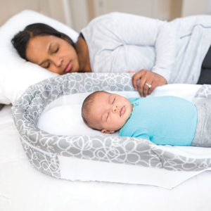Snuggle Nest - Dream Portable Infant Sleeper – Grey Scribbles