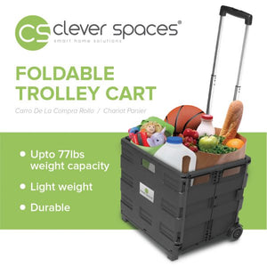 Clever Spaces Foldable Trolley Cart