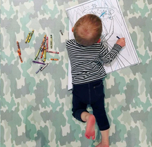 Load image into Gallery viewer, Play with Pieces - Star/Camo Play Mat