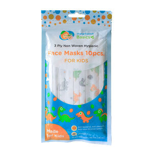 Orange and Peach Basics Face Mask for Kids