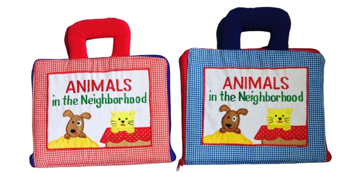 Animals In The Neighborhood Cloth Book