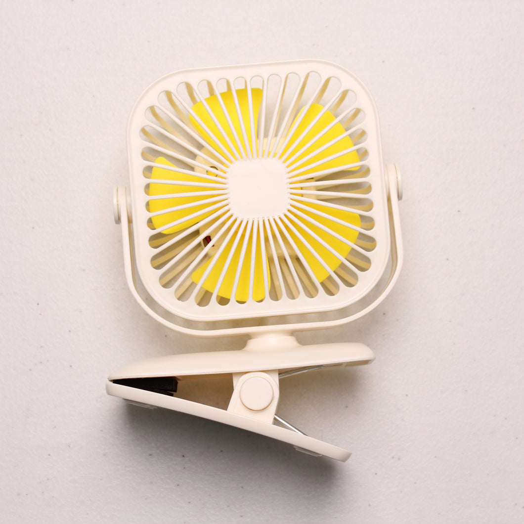 Yase Rechargeable Square Clip on Fan
