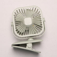 Load image into Gallery viewer, Yase Rechargeable Square Clip on Fan