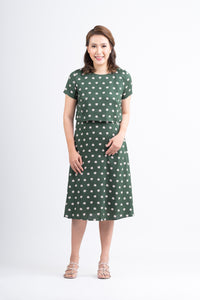 Mome - Selena Dress Floral Dark Green Design