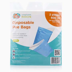 Orange & Peach Disposable Pee Bags