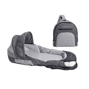 Snuggle Nest - Adventure Indoor/Outdoor Portable Infant Sleeper – Charcoal Tweed