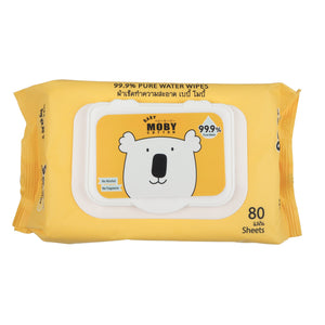 Baby Moby Pure Water Wipes with case 80's