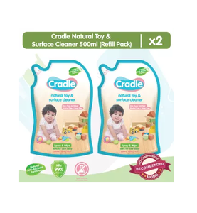 Cradle Natural Toy & Surface Cleaner 500mL Refill (Set of 2)