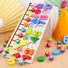 Load image into Gallery viewer, Wooden Logic Learning Board Multifunctional Wooden Toy