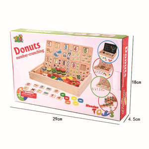 Wooden - Donuts Number-Crunching