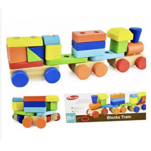 Wooden - Blocks Train