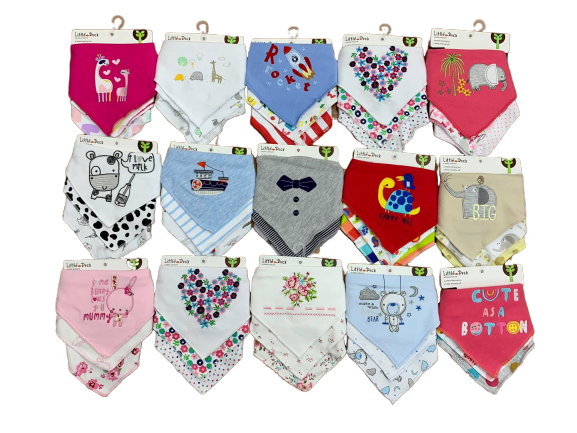 Little Duck 3 pcs. Bandana Bibs
