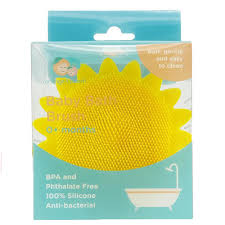 Orange & Peach Silicone Bath Brush