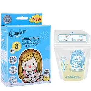 SUNMUM BREAST MILK STORAGE BAGS 3OZ 30S