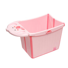Load image into Gallery viewer, Bunny Bubbles Baby Co Large Foldable Baby Tub