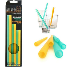 Load image into Gallery viewer, GoSili Siliskins Reusable Silicone Straws- Family Sizes 6 pack