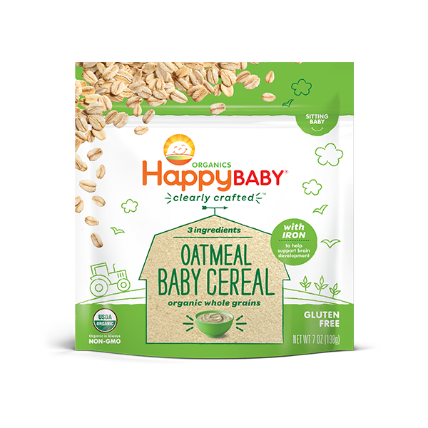 Happy Baby - Oatmeal Baby Cereal (Clearly Crafted Cereal)