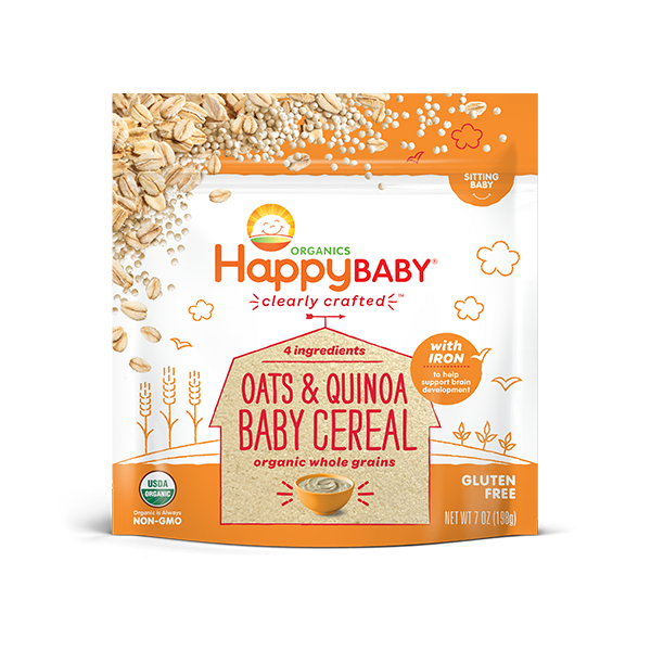 Happy Baby - Oats and Quinoa Baby Cereal (Clearly Crafted Cereal)