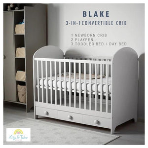 Lily and Tucker Studios Blake 3in1 Convertible Crib