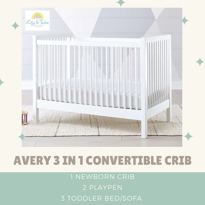 Lily and Tucker Studios Avery 3 in 1 Convertible Standard Crib