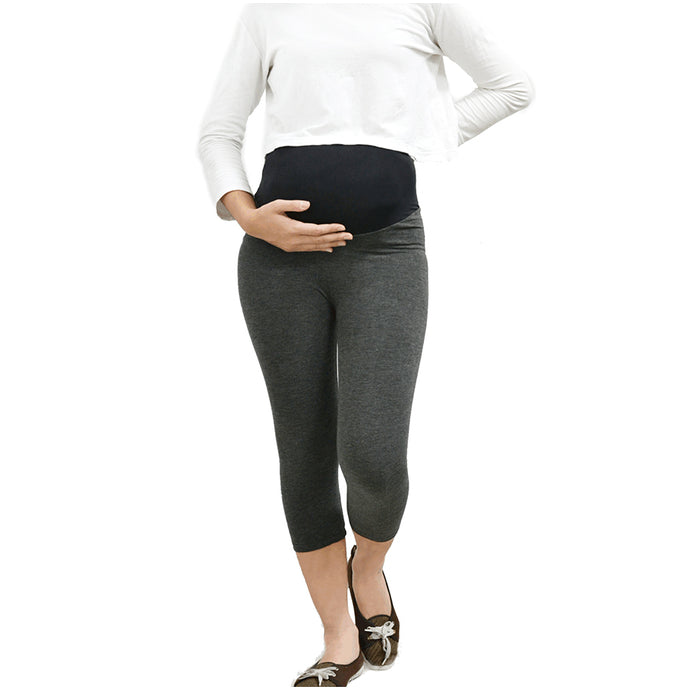 Iammom - Cropped Maternity Leggings