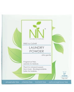 Nature To Nurture Free & Clear Laundry Powder Ultra Gentle 1 KG