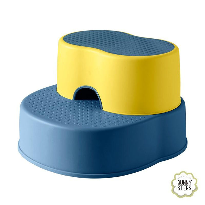 Bunny Bubbles Baby Co Toddler Step Stool - XL Blue