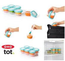 Load image into Gallery viewer, Oxo Tot Baby Blocks Freezer Storage Containers 2oz x 6