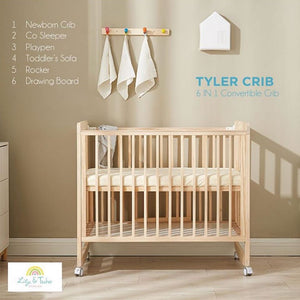 Lily and Tucker - Tyler 6 in 1 Convertible Crib