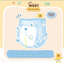 Load image into Gallery viewer, Baby Moby Chlorine Free Diaper Pants (Large Size 9-14kgs) - 40 pcs
