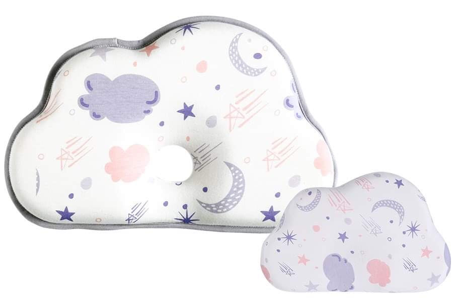 Olive and Clouds Baby Head Shaping Pillow (With Extra Pillow Case)