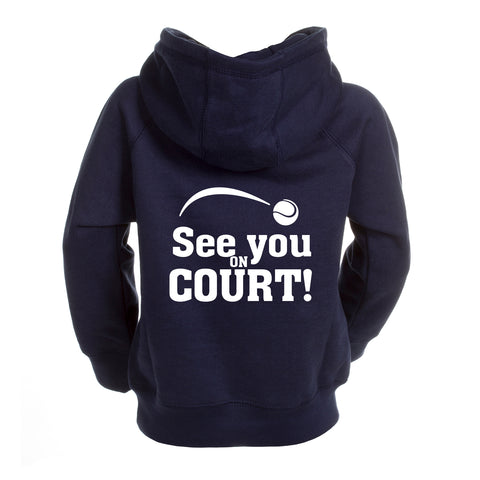 hoodie adult met rits see you on court