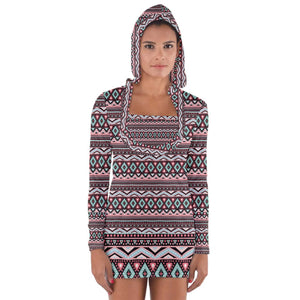 bohemia style -  Long Sleeve Hooded T-shirt