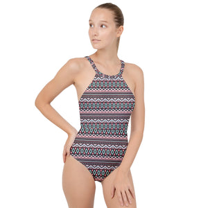 bohemia style - High Neck One Piece Swimsuit