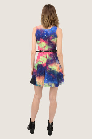 Psychedelic Space Skater Dress