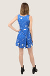 Blue  Constellations of Southern Hemisphere Skater Dress