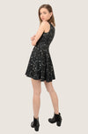 Black Heart Night Skater Dress