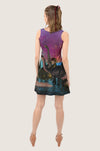 Dinosaur Sunset Reversible Sleeveless Dress