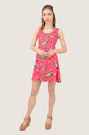 Dinosaur Lovely Pink Sleeveless Dress