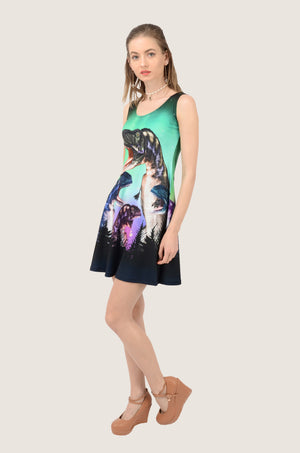 Dinosaur Night Reversible Sleeveless Dress
