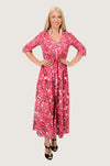Japanese Blossom Boho Maxi Dress