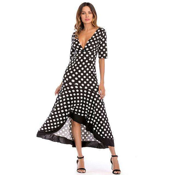 Naomi Polka Dot Dress - sashabellabylyndaz