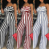 Rosie Striped Jumpsuita - Lyndaz