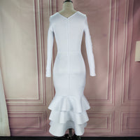 Peeta White Dress - Lyndaz