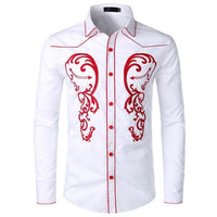 Theodore Embroidery Shirts - Lyndaz