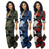 Natalia Button-up Jumpsuits - Lyndaz
