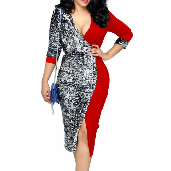 Skyla Sequined Dress - Lyndaz