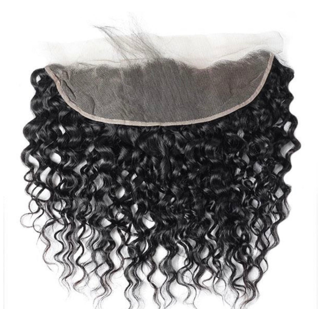 Water Wave Human Hair 13x4 Lace Frontal