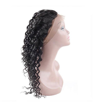 Water Wave Human Hair 360 Lace Frontal