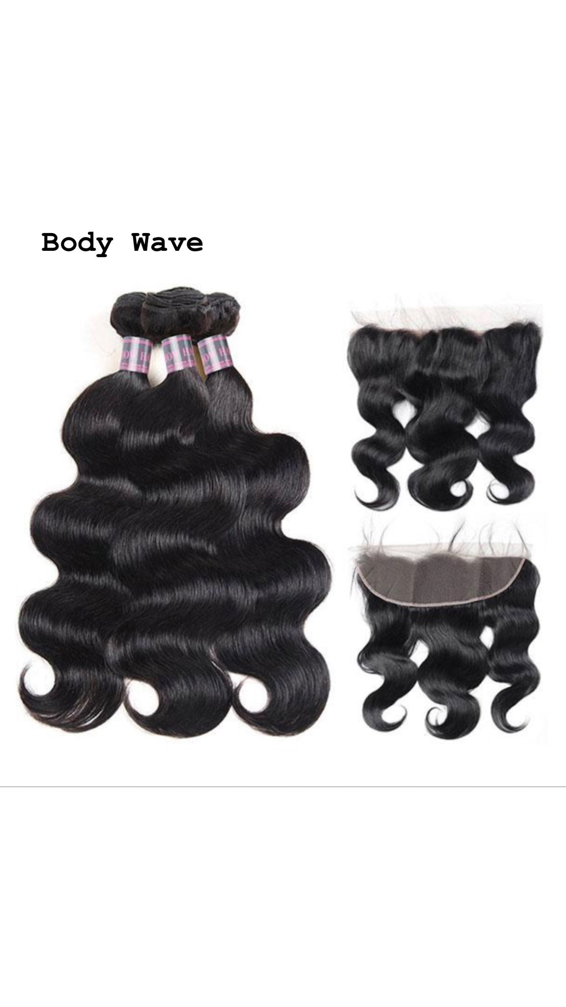 Malaysian 3 Bundles With 13*4 Frontal